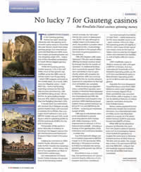 No lucky 7 for Gauteng casinos